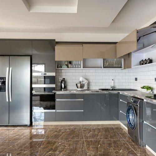 luxury tiled kitchen