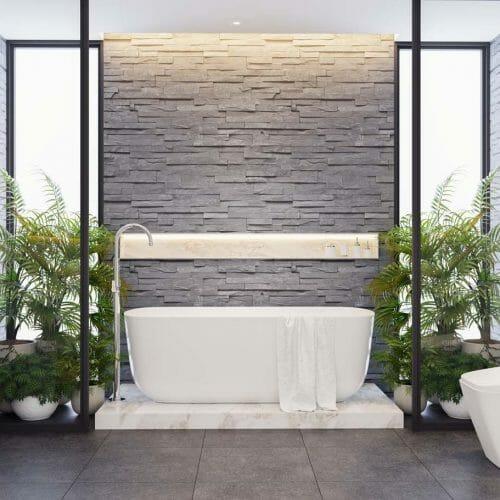 modern nh tiled bathroom