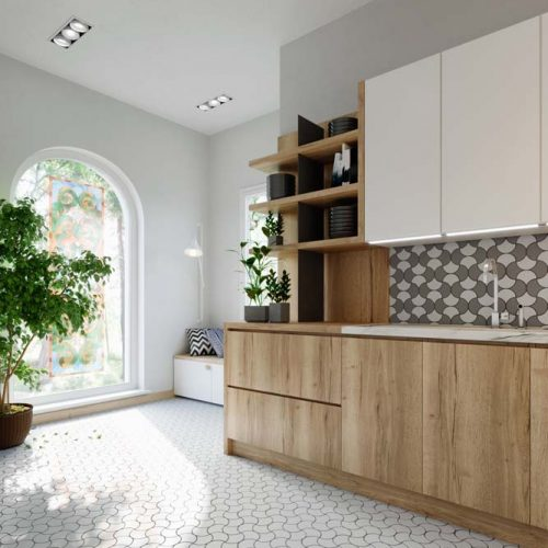 mosaic backsplash floor 1