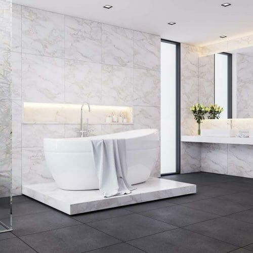 tiled bathroom floor walls nh