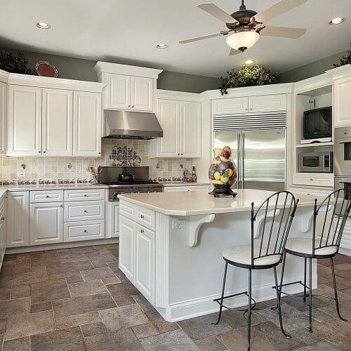 tiled kitchen tiled backsplash