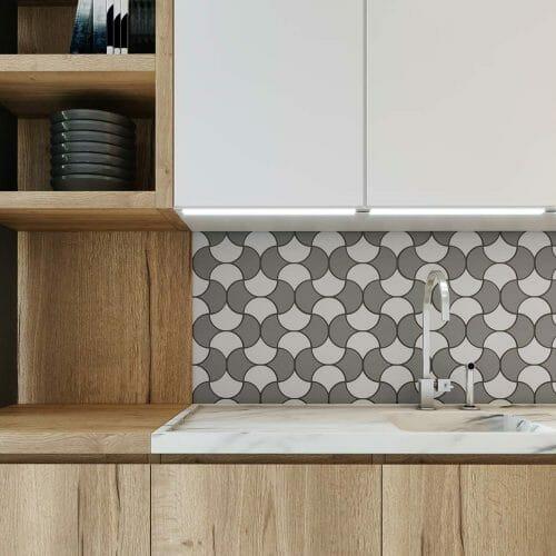 tiled mosaic backsplash NH 1
